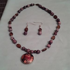 Handmade necklace & Earring combo